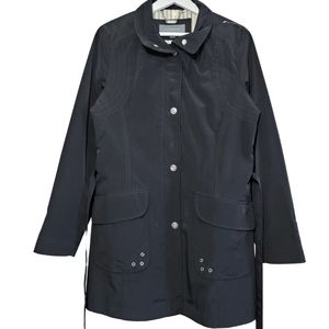 Liz Claiborne Belted Trench Coat Black Small